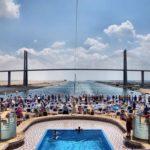 Suez-kanalen - Al Salam broen, eller Fred Broen, er en vejbro krydser Suez-kanalen på El Qantra
