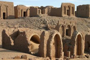 El Bagawat kristne kirkegård ved Kharga Oasis